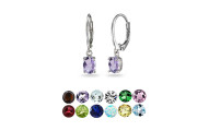 Birthstone Gemstone Dangle Earrings