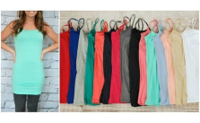 Extra Long Cotton Spandex Tanks