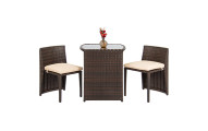 Outdoor Patio Furniture Wicker 3pc Bistro Set