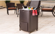 Suncast Wicker Cooler and Cabinet