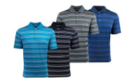 adidas Men's 2-Pack Puremotion Textured Stripe Polo