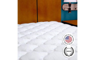 eLuxury Supply Mattress Pad with Fitted Skirt