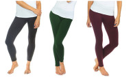 2-Pack Women's Basic Fleece Lined Leggings