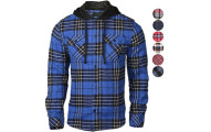 9 Crowns Men's Lightweight Hoodie Flannel Shirt