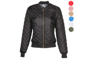 AG Womens Quilted Bomber Jacket