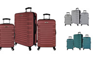 Elite Luggage 3 Piece Hardside Spinner Luggage Set