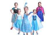 Girls Frozen Elsa Anna Costume Dress