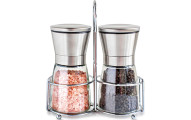 Salt and Pepper Shakers with Stand
