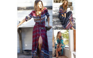 Women's Summer Bohemian Tunic Maxi Sundress