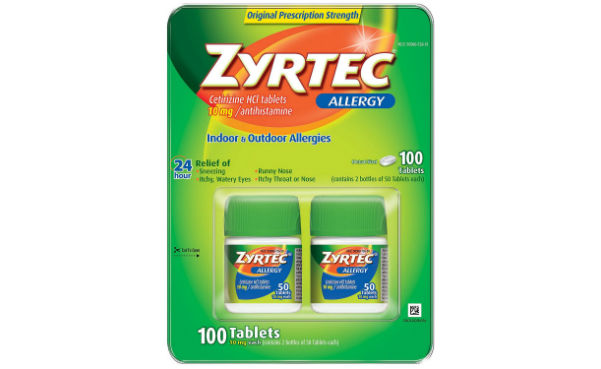 Zyrtec Allergy 10mg Tablets