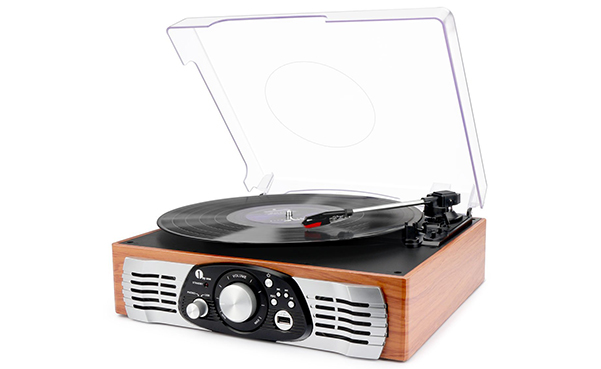 1byone Belt-Drive 3-Speed Stereo Turntable