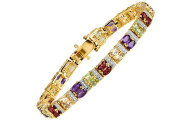 7 34 ct Multi-Gem and Diamond Bracelet