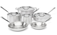 All-Clad 10-Piece Stainless Steel Cookware Set,