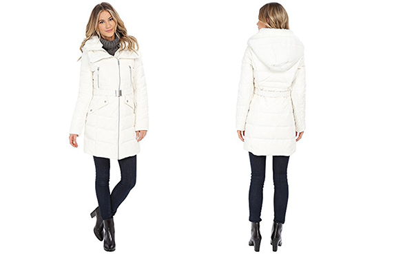 French Connection Belted Puffer Coat