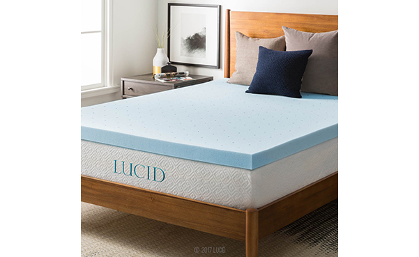 LUCID 3-inch Gel Memory Foam Mattress Topper
