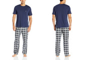 Nautica Men's Plaid Flannel Pant and Tee Set