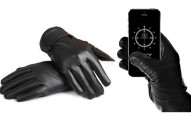 Fleece Lined Leather Touchscreen Gloves