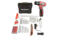 Stalwart 75 piece 12V Lithium Ion 2 speed drill set