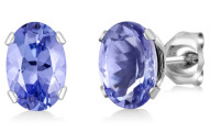 1.00 Ct Oval Tanzanite Stud Earrings