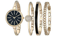 Anne Klein Women's Watch and Bracelet Set