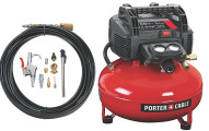 PORTER-CABLE Pancake Compressor, Accessory Kit and Brad Nailer Kit