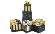 California Delicious Black and Gold Elegance Gift Basket