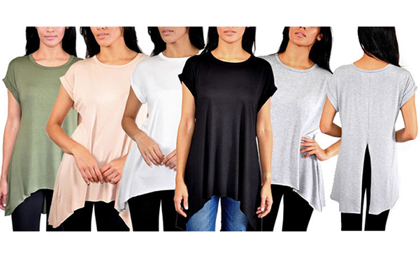 Women's Relaxed Fit Top with Split Back