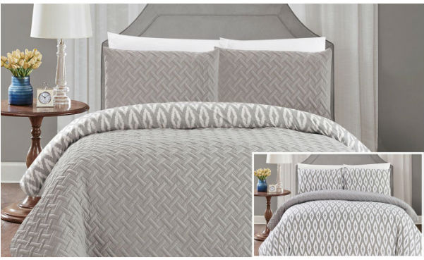 Chic Home Alena Embossed & Embroidered Quilted Comforter Set