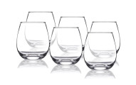 6-Piece Set Shatterproof Stemless Wine Glasses