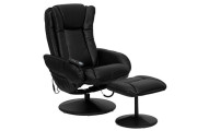 Flash Furniture Massaging Leather Recliner and Ottoman