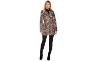 Via Spiga Double Breasted Leopard Coat