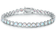 Fire Opal Tennis Bracelet by Peermont