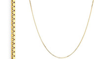 14K Gold Italian Design Box Chain