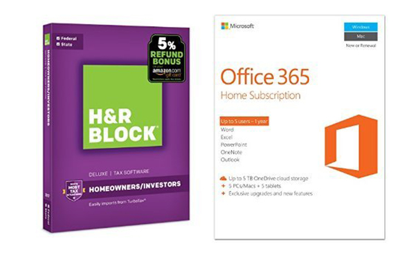 H&R Block Tax Software with Microsoft Office 365 Home