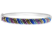 Mina Bloom Multi Color Swarovski Crystal Bangle