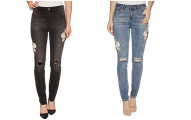 ROMEO & JULIET COUTURE Distressed Denim Pants