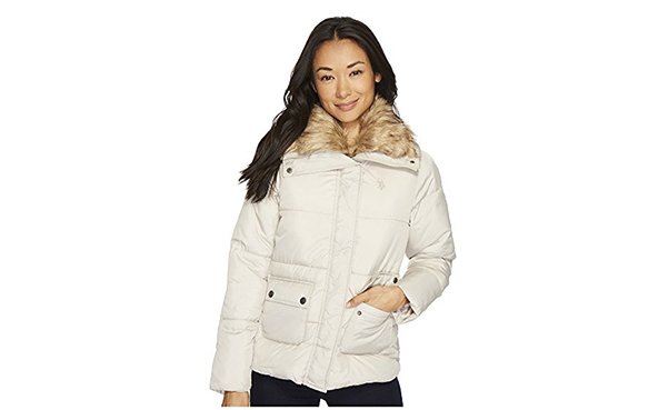 U.S. POLO ASSN. Fur Collar Puffer Women's Coat