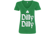 Dilly Dilly St. Patrick's Day Women's V-Neck T-Shirt