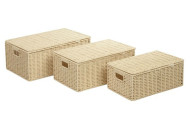 Honey-Can-Do Paper Cord Baskets-3 Piece Set