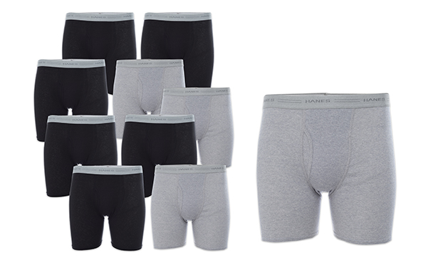 10-Pack Hanes Boxer Briefs