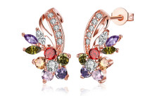 18K Rose Gold Plated Rainbow Earrings