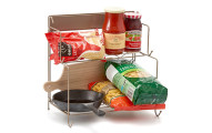 2-Tier Foldable Kitchen Rack