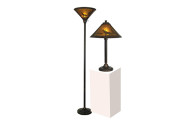 Dale Tiffany Springdale Wilderness Mica Lamp Combo Set