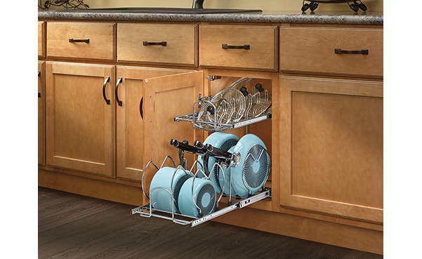 Rev-A-Shelf Small Two-Tier Cookware Organizer