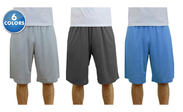 Men's Cotton-Blend Mesh Basketball Shorts