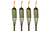 Tiki Brand 57-Inch Luau Bamboo Torches (4 pack)