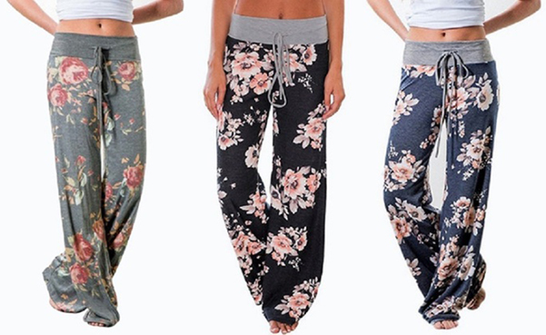 Women's Loose-Fit Floral Pants (3-Pack)