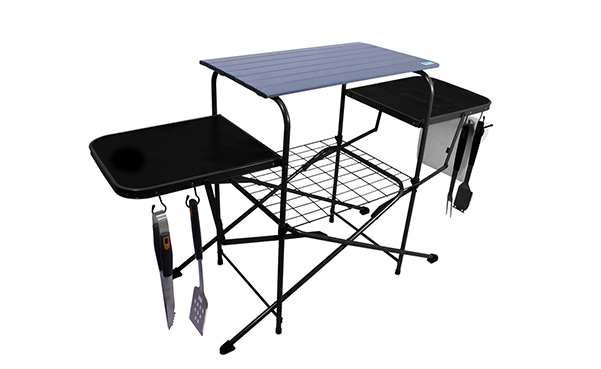 Chefs Basics Outdoor Folding Grilling Table