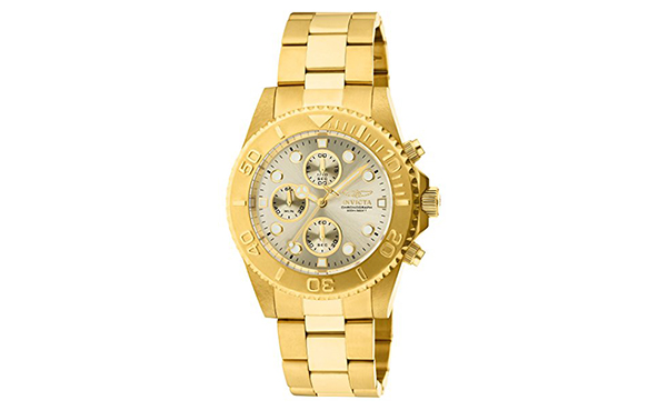 Invicta Men's Pro-Diver 18k Gold Ion-Plated Watch