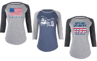 Women's 4th Of July Baseball Tees